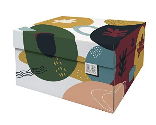 Cajas de almacenamiento decorativas con tapa – Tamaño: 38,9 x 31,8 x 21,1 cm – Cajas de almacenamiento con tapa – Cartón reciclable certificado FSC (Impresión: Doodles)