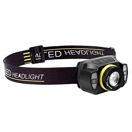 Lampara de Cabeza LED,KKmoon Linterna Frontal Cabeza,5 Modos de Luz (Blanco y Rojo),Impermeable,Frontal LED para Correr, Acampar, Pescar, Ciclismo, Camping, Niños