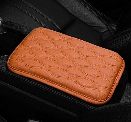 SMXGF Pelle Anti Scratch Impermeabile Universale Cuscino Box Cover Car bracciolo Pad Morbido PU Resistente Center Console Non Slip Resto del Braccio (Color Name : Brown)