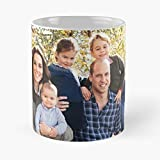 92Novafashion Kingdom Kate Charlotte Louis William Family Royal United George La Mejor Taza de café de cerámica de mármol Blanco de 11 oz