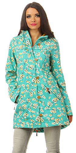 BLUTSGESCHWISTER - WILD WEATHER LONG ANORAK - Damen Jacke, Farbe:Grün (blossom spring time);Größe:L