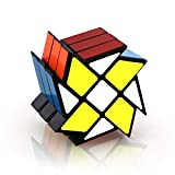 Nxxlfsb 風車ツイストルービックキューブ教育玩具アンチストレスの子供のためにルービックキューブのギフト 調節可能な締め付け (Color : Black)