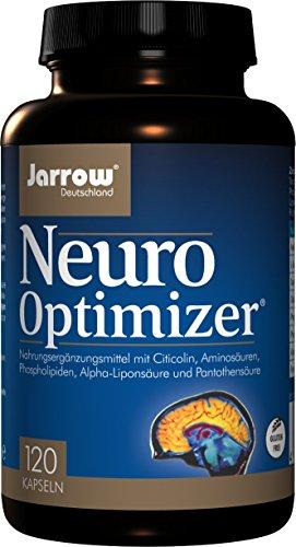 Neuro Optimizer, Citicolin, Aminosäuren, Phospholipide, Alpha-Liponsäure und 10 mg Vitamin B5, 120 Kapseln, Pantothensäure zur Aufrechterhaltung einer normalen geistigen Leistung, Jarrow Deutschland