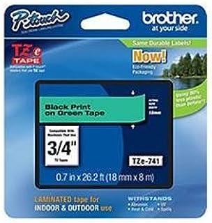 "Brother International, Black on Green 3/4"" (Catalog Category: Printers- Inkjet/Dot Matrix / Label Printer Access.)"