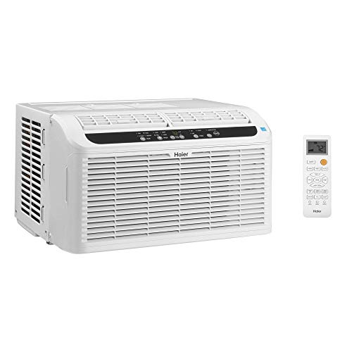 Haier Serenity Series 6,000 BTU 115 Volts Electric Ultra Quiet Window 3-Speed Air Conditioner AC Unit with Window Kit and Remote Included (Certified Refurbished)