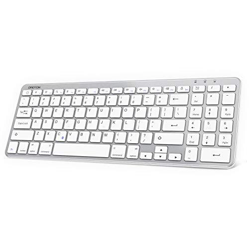 OMOTON iPad Keyboard, Bluetooth Keyboard with Numeric Keypad for iPad 7th Generation 10.2, iPad Pro 11/12.9, iPad Air 10.5, iPad 9.7, iPad Mini and iPhone, Silver