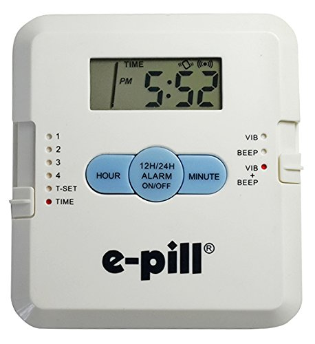 e-Pill 4 Alarm Pocket with Attached Pillbox – Vibrates and/or Beeps