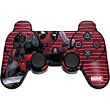 Skinit Decal Gaming Skin for PS3 Dual Shock Wireless Controller - Officially Licensed Marvel/Disney Deadpool Dual Wield Design