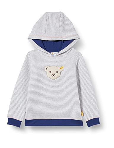 Steiff Jungen Sweatshirt Baby- und Kleinkind T-Shirt-Satz, Soft Grey Melange, 86