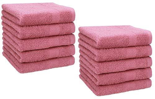 Betz Paquete de 10 Toallas faciales Premium 100% algodón 30x30 cm Color Rosa
