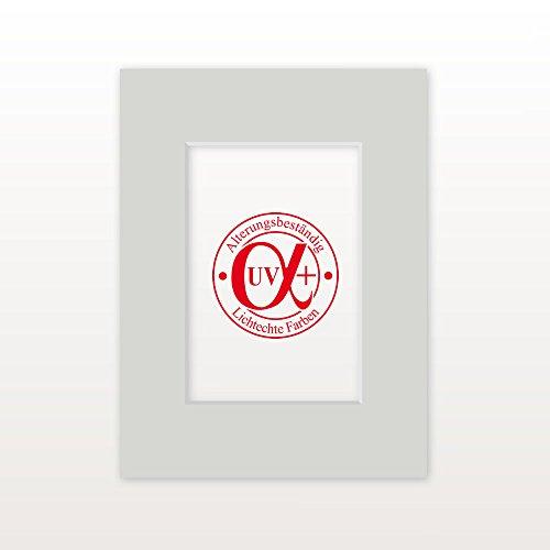 """Passepartout """"MontBlanc15"""" - Außen: 50 x 70 - Für Bildgröße 30 x 45 - Museumsqualität"""