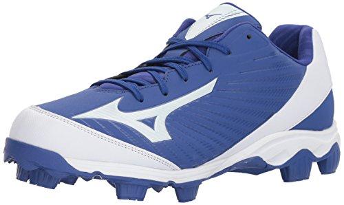 Mizuno Herren 9-Spike Molded Cleat-Low Advanced Franchise 9, geformte Baseball-Schuhe, 9 Noppen, niedriger Schaft, Royal/Weiß, 39.5 EU