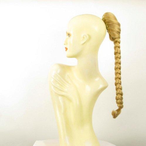Postiche queue de cheval extension femme longue 50 cm blond clair doré ref 4 en lg26