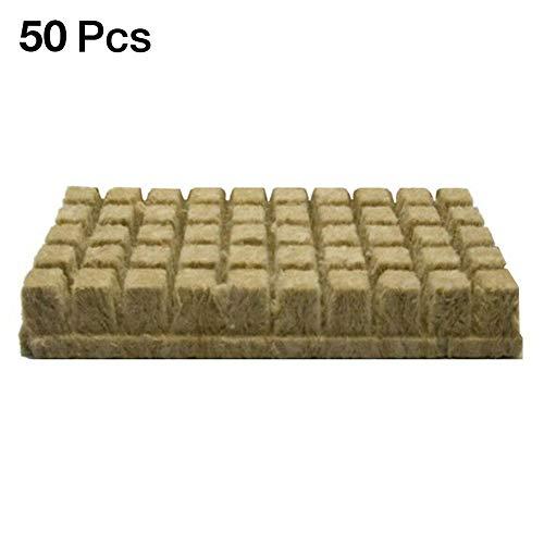 Blentude Rockwool Sheet Block Propagation Cloning Seed Raising-Hydroponic 25 25 40MM