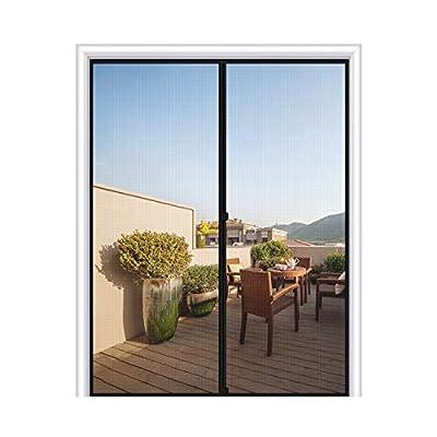 Magnetic Screen Door 72x80, Mesh French Screen Fiber Heavy Duty Large Double Door