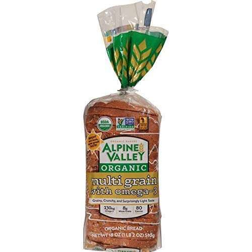 Evaxo Alpine Valley Organic Multi Grain Bread, 2 x 24 oz .#B