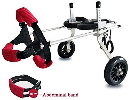 Jxungouqi Dog Wheelchair Best Friend Dog Wheelchair, Back Support Wheelchair, Adjustable Pet/Cat Dog Wheelchair Hind Leg Rehabilitation for