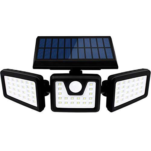 SEFON Solarlampen für außen mit Bewegungsmelder 70 LED Solarleuchten für außen IP65 LED Strahler Außen 360° Drehbare Solar Außenwandleuchten Aussenleuchte 1 Stk