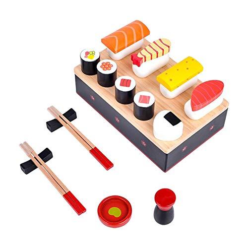 perfeclan Selección de Sushi para niños, Juego de Cortar Comida japonés Sushi Modelo puzle Juguetes de simulación, Regalos