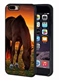 iPhone 7 Plus Case,iPhone 8 Plus Case,BWOOLL Horse Theme Design Slim Anti-Scratch Rubber Protective Cover for Apple iPhone 7 Plus/iPhone 8 Plus 5.5 inch