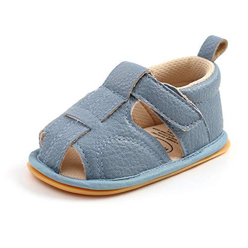 Sandalias de Bebé Niños para 0-18 meses, Zapatos de Verano Antideslizante Suela Suave Zapatillas Primeros Pasos