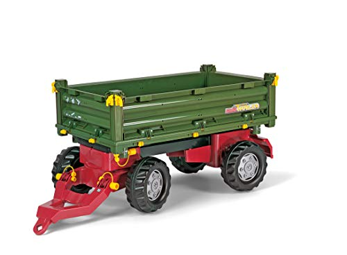 Rolly Toys Schneider 12 500 5 - Remolque (2 ejes, volquete a 3 lados, 88 cm), color verde , Modelos/colores Surtidos, 1 Unidad