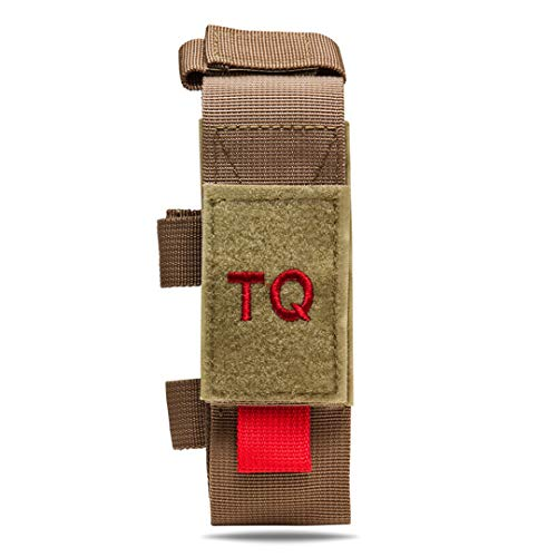 Tactical Tourniquet & Trauma Medical Shear Pouch MOLLE PALS Duty Belt Loop EMT EMS (Tan)