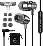 ULIX Rider Earphones in-Ear Headphones with Mic, 3 Years Warranty, with Anti-Tangle, Reinforced Cable, Microphone, Super Resistant, 48 Ω Driver, Intense Bass, Earbuds for Samsung, Computer, Laptop