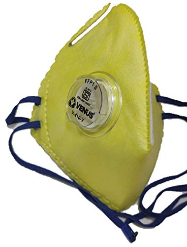 Venus Respirator Mask (Multicolor, With Valve, Pack of 5)