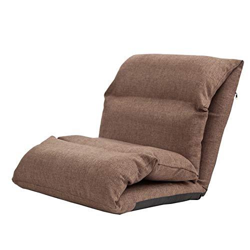 WHOJA Sillón Reclinable Ajuste de 5 velocidades Sofá Trasero Grueso Algodón y Lino Fácil de Quitar y Lavar Dormitorio Dormitorio Alfombra Sillon Relax (Color : Brown)