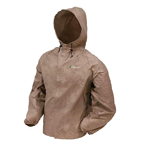 Frogg Toggs Men's Ultra-Lite2 Waterproof Rain Jacket, Khaki, Large