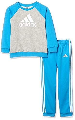 adidas Unisex-Kinder I Logo Jogg Ft Trainingsanzug, Mehrfarbig (Brgrin/Ciasho/Weiß), 104