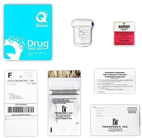 QuickScreen Marijuana THC Urine Drug Test Mail-in Lab...