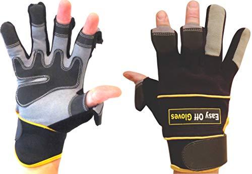 Easy Off Gloves Guanti da specialista (Punte delle Dita ripiegabili) - Ideale per Caccia, Pesca, Giardinaggio, Fotografia, Paintball, Fai da Te e lavori in Genere. (Medio EU 9)