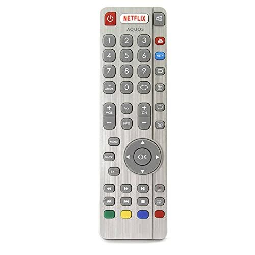 Shy-RC TV Ajuste a Distancia para AQUOS Sharp Aquos Smart LED TV con Netflix Botón de TV de Youtube DH1903130519 Controle...