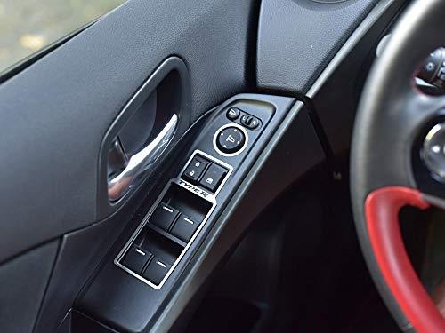 Interieur Stahlabdeckung für Civic Type R IV FK2-4 Stück Elektrische Fensterheber Platte Edelstahl Gebürstet Blenden Cockpit Dekor Mass Angefertigt
