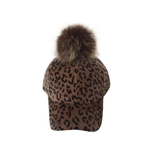 JUTOO Mode Herbst und Winter Eltern-Kind-Hut Leopard Velvet Cap