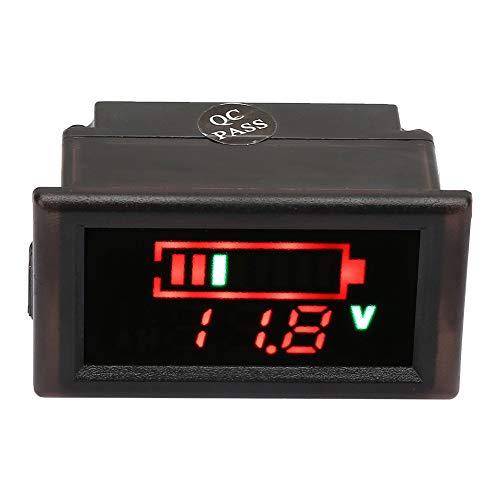 WNSC Voltímetro para automóvil eléctrico, indicador de batería de atmósfera Práctica función de protección inversa a Prueba de Agua para vehículo eléctrico para Paquete de batería