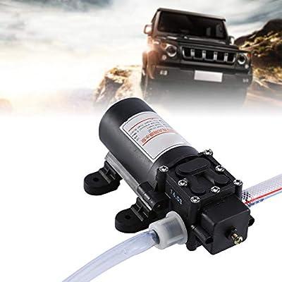 Qiilu Oil Extractor Pump Kit, 12V 60W Car Oil Fluid Liquid Extractor Scavenge Exchange Transfer Pump Kit
