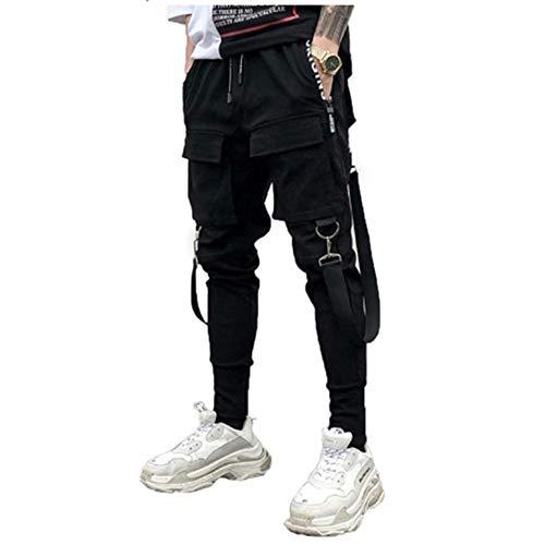 SALUCIA Herren Cargohose Jogginghose Streetwear Hosen Chino Sweatpants Freizeit Lang Hosen Sporthose Outdoorhose Traininghose mit Taschen