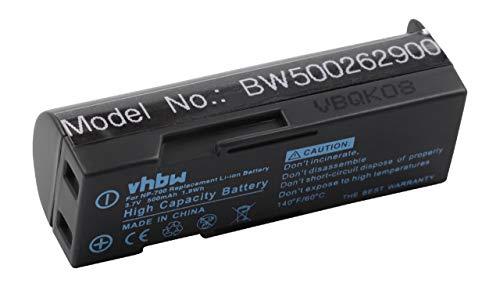 vhbw Batería Recargable Compatible con Sanyo Xacti VPC-A5 cámara Digital, DSLR (500 mAh, 3,7 V, Li-Ion)