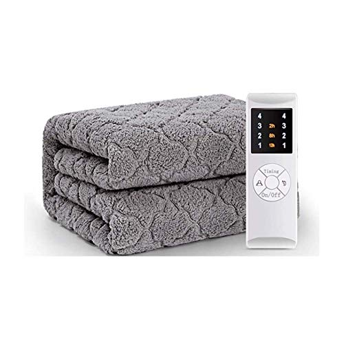 Lamyanran Electric Heated Throw Over Blanket Double Control Electric Blanket, Plush Machine Washable Heating Blanket With Automatic Closing Function, 3 Heating Settings, Timed