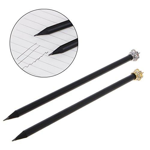 Manyo Bleistifte, mit Krone, Schreibwaren für Schüler, Studenten, Büro 19cm/7.48in silber