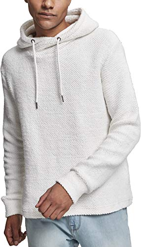 Urban Classics Herren Loose Terry Inside Out Hoodie Kapuzenpullover, Weiß (Offwhite 00555), Small