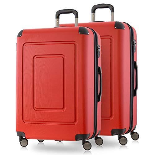 Happytrolley Lugano Juego de maletas 66 centimeters 78 Rojo (Rot)