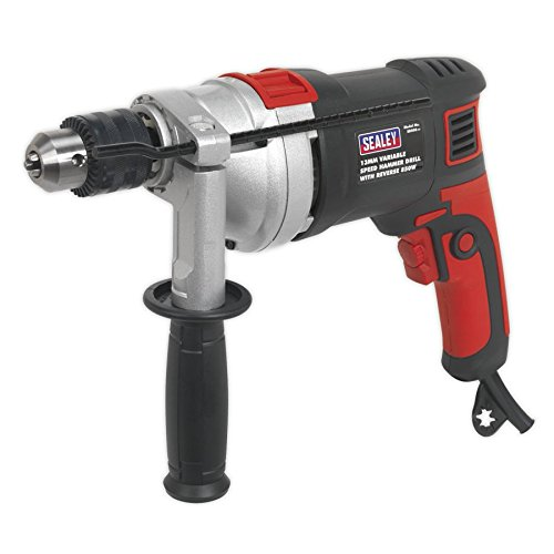 Sealey SD800 Variable Speed Hammer Drill with Reverse, 810W, 230V, 13mm
