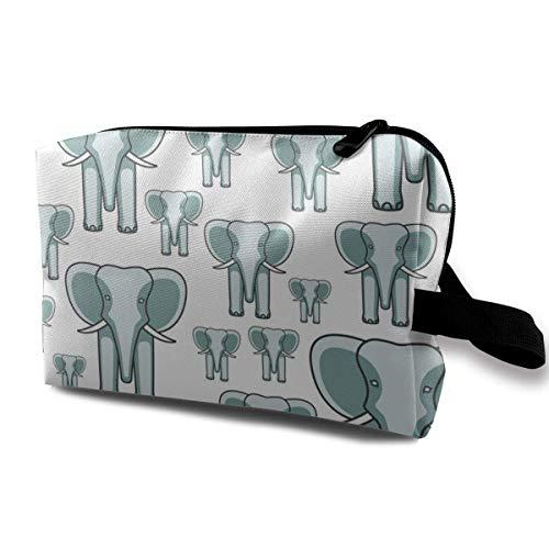 Sac cosmétique pour Organisateur de Couture de Visage d'éléphant de Femme avec Fermeture éclair