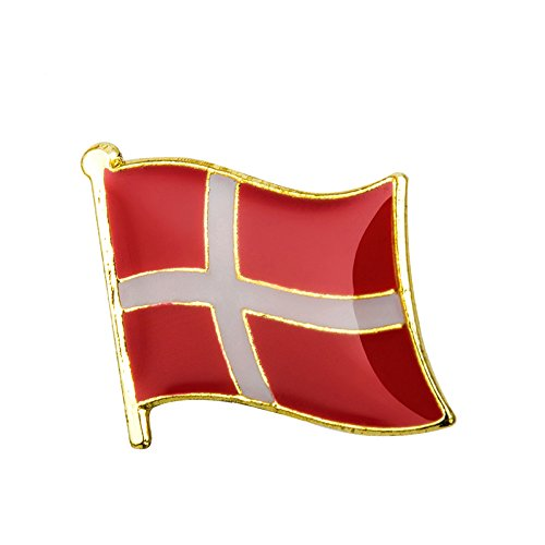 Preisvergleich Produktbild Dänemark Dänische Flagge Metall Pin Anstecker