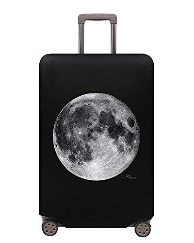 Proteggi Valigia Suitcase Luggage Cover,18-32 pollici Coperchio per , Lavabile Viaggio Bagagli Coprire Copri Valigia Copertura per Valigia (Esplorando la luna, L)