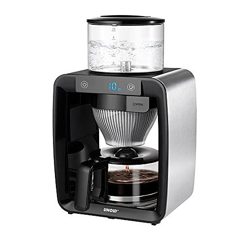 UNOLD 28435 KAFFEEAUTOMAT Aroma Star mit Direktbrühsystem - Kaffee wie von Hand gebrüht, 1,25 L Volumen, Vorbrühfunktion, Mehrstrahligem Brühkopf, Beschichtete Warmhalteplatte und Digitalanzeige